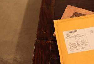 フワフワ封筒に入ってきました。
