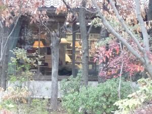 外から見られる書斎